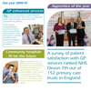 "<strong>NHS Devon A3 Annual Report Summary Fold-out</strong><br>""Naomi's creativity and responsiveness make her a pleasure to work with."" Pauline McCluskey, Asst CEO/Head of Comms, NHS Devon Commissioning"