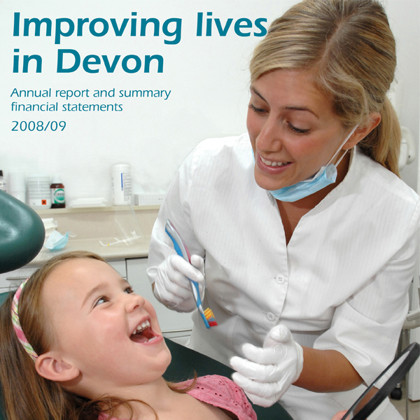"<strong>NHS Devon Annual Report 2008/09</strong><br>""A great all-round service, incorporating skills in design, writing and editing. This comprehensive approach is very cost-effective."" Pauline McCluskey, Asst CEO/Head of Comms, NHS Devon Commissioning"