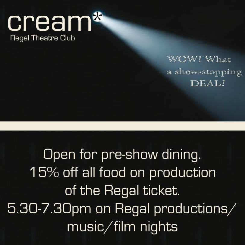 <strong>Matching promotional materials for Cream Theatre Club</strong><br>'You were extremely efficient in responding to my requests. I prefer to work by email and you appreciated this and responded accordingly. I would class efficiency and organisation as one of the strong points of this business. Kate Kravis, Cream
