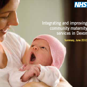 <strong>Redesign of Maternity Services consultation booklet and posters</strong><br>Design a consultation booklet and poster for a service redesign process in Devon