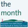 <strong>Interactive electronic six-page newsletter for NHS Devon, Plymouth and Torbay</strong><br>Create sub-brand and identity for new electronic monthly newsletter to reflect the new cluster of Devon, Plymouth and Torbay. Design monthly.